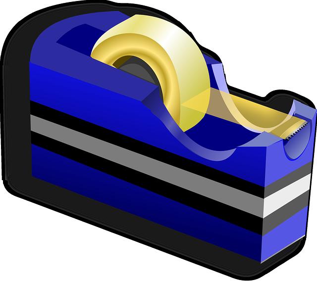 lepící páska v držáčku