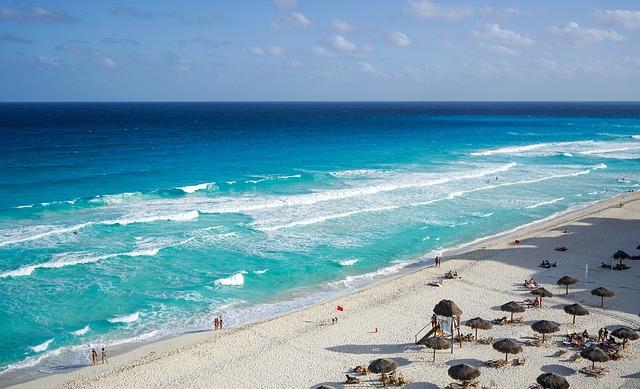 Mexiko, moře, vlny