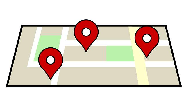 pozice vozidel na mapě