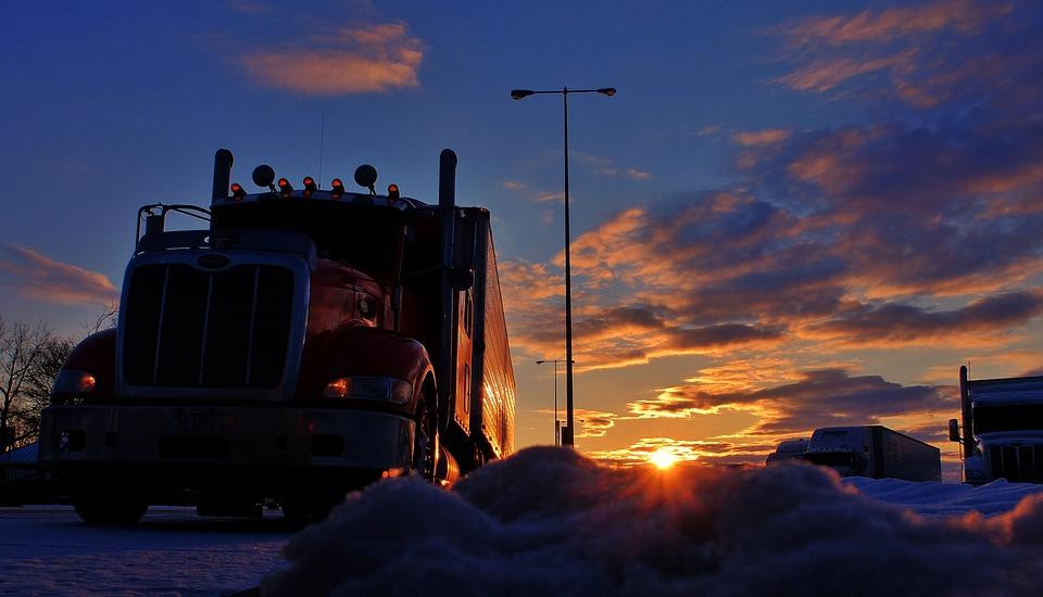 zaparkovaný kamion